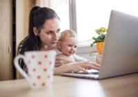 Consejos para madres que trabajan desde casa en bebés pequeños