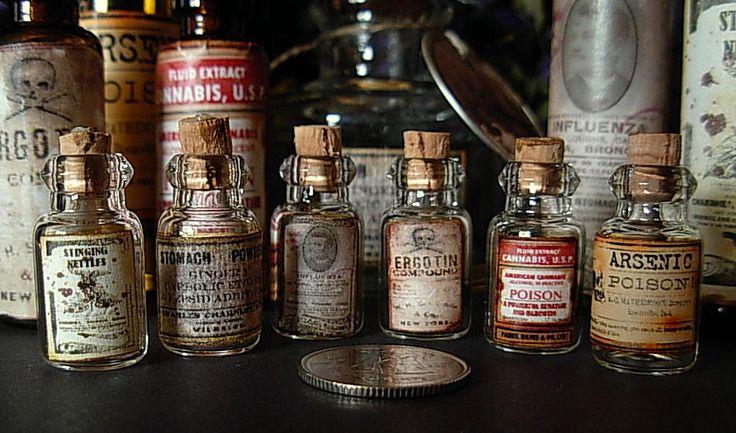 Old Fashioned Medicine Jars