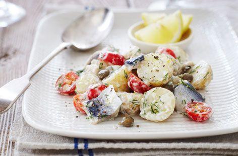 Hareng, salade de pommes de terre