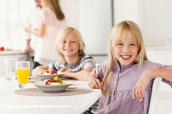 Nutrición para niños, desayuno saludable