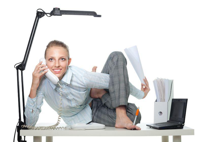 कार्यालय में व्यायाम