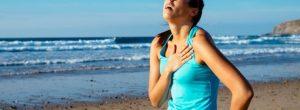 Dor no peito durante atividade física