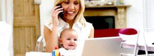 Delo od doma pri novorojenčku: Ali je mogoče?