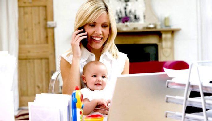 العمل من المنزل مع طفل حديث الولادة: هل هذا ممكن؟
