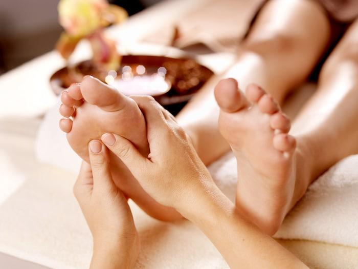 Tratamento de pés durante a gravidez