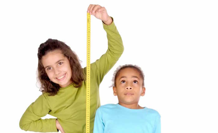 正常青少年的身高和体重