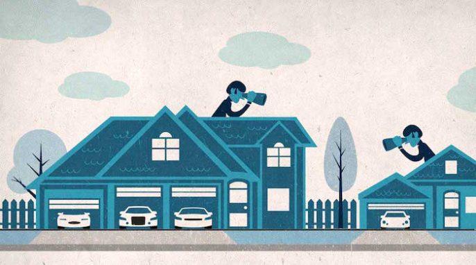 """Vouloir ce que vos voisins ont: Pourquoi aimons-nous """"maintenir le niveau de vie du voisin""""?"""