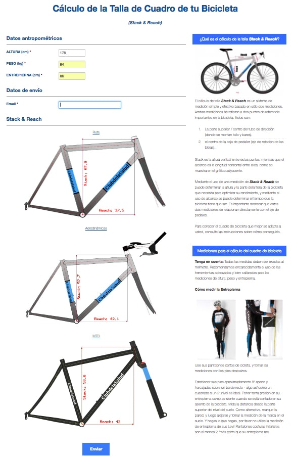 Calcule o tamanho da bicicleta que melhor se adapta às suas medidas corporais