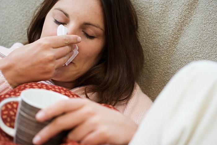 Grippeähnliche Symptome während Perioden