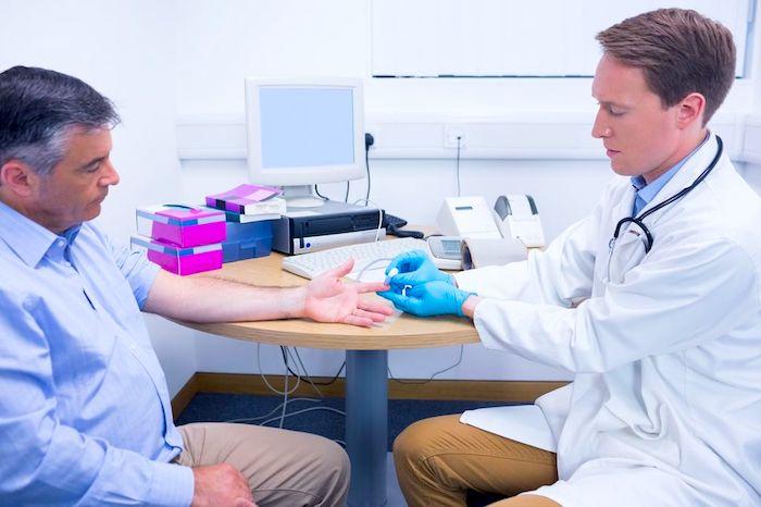 Diagnóstico: Alto nível de açúcar no sangue