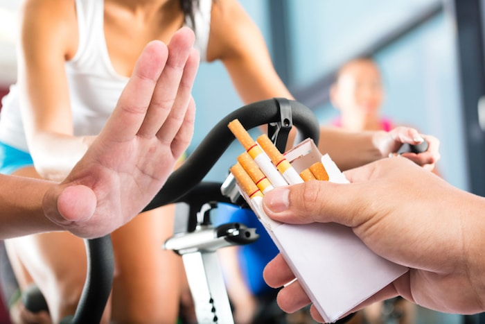Fumar después del ejercicio