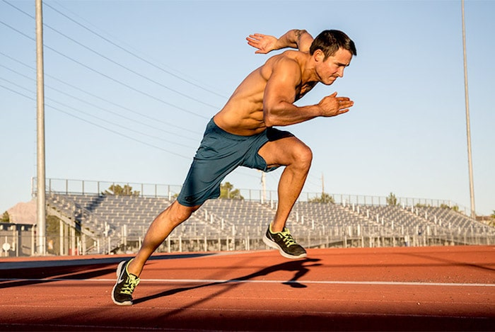 Laufen und Gewichtheben