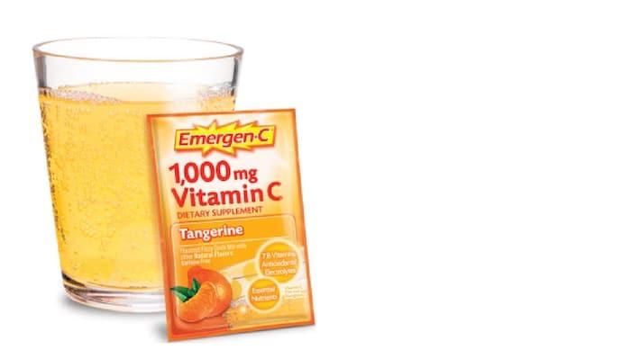 Emergen-C est un supplément que les gens peuvent prendre comme boisson