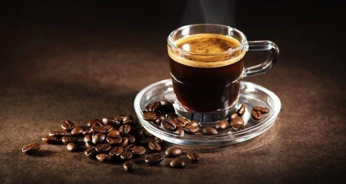 Contenido de cafeína en diferentes tipos de café